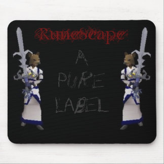 RuneScape - A Pure Label Mouse Pad