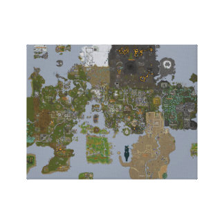 Runescape Map on Canvas Canvas Print