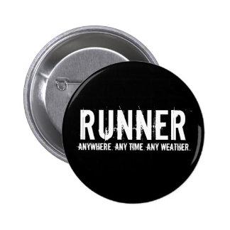 Runner 6 Cm Round Badge