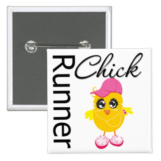 Runner Chick 15 Cm Square Badge