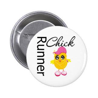 Runner Chick 6 Cm Round Badge