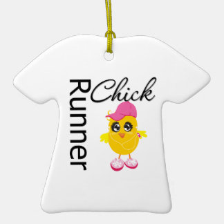 Runner Chick Christmas Ornaments