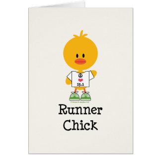 Runner Chick Half Marathon Greeting Card