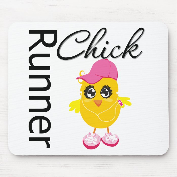 Runner Chick Mouse Pad