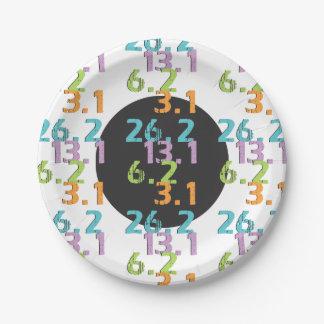runner distances 5k 10k 13.1 26.2 Party Supplies Paper Plate