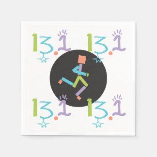 Runner Eclectic 13.1 Half Marathon Theme Paper Napkin