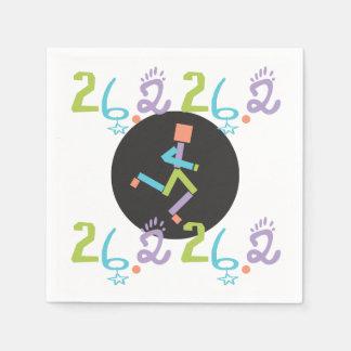 Runner Eclectic 26.2 Marathon Themed Disposable Napkin