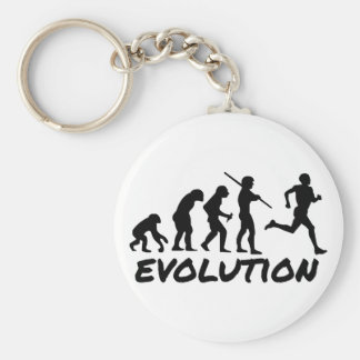 Runner Evolution Basic Round Button Key Ring