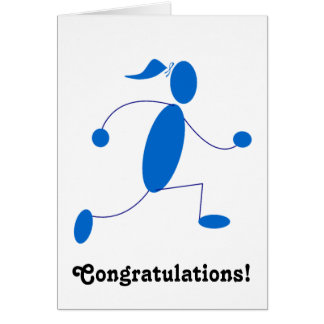 Runner Girl Congratulations Card