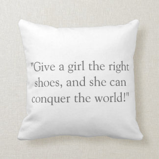 Runner Girl Throw Pillow