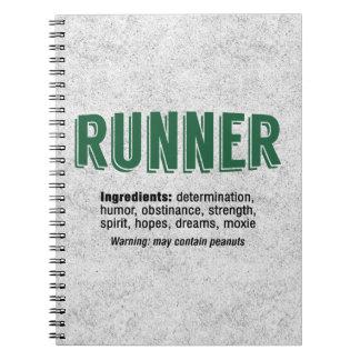Runner Ingredients Notebook