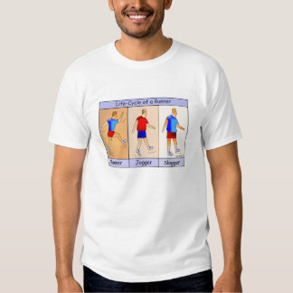 Runner Jogger Slogger Cartoon T-shirt