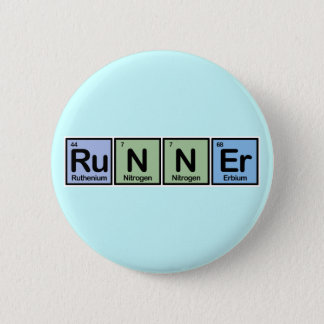 Runner made of Elements 6 Cm Round Badge