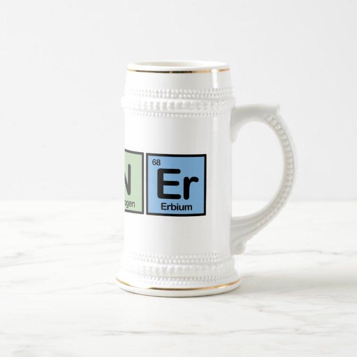 Runner made of Elements Beer Stein