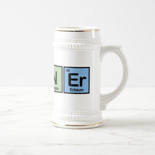 Runner made of Elements Beer Steins
