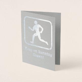 Runner - Own Photo - Encouragement / Congrats Male Foil Card