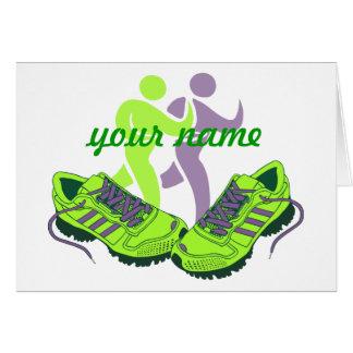 Runner Personalised Card