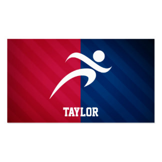 Runner; Red, White, and Blue Double-Sided Standard Business Cards (Pack Of 100)