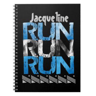 Runner Themed Personalized Option Run Run Run Spiral Notebook