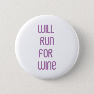 RunnerChick Wine 6 Cm Round Badge