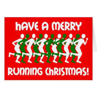 runners Christmas Greeting Card