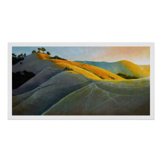 Runners in Poly Canyon Poster