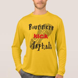 Runners Kick Asphalt Sport-Tek LS T-Shirt
