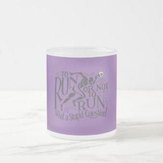 Runner's Logic Frosted Glass Coffee Mug