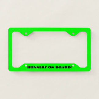Runners On Board! Licence Plate Frame