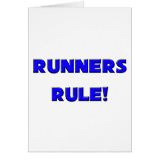 Runners Rule! Card