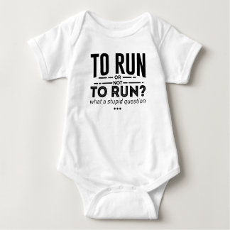 Runners Run Running Is Life Design Baby Bodysuit
