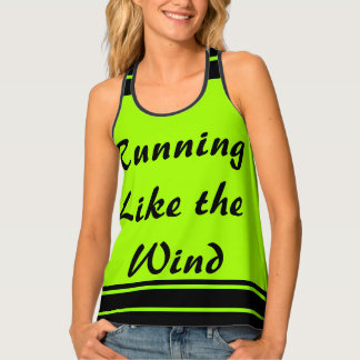 Runners Running Lime Black Sporty CricketDiane Singlet