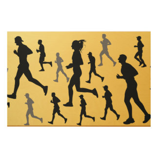 Runners Wood Wall Art