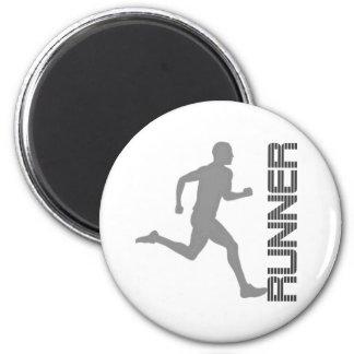 Runners Zone 6 Cm Round Magnet