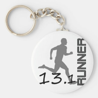 Runners Zone Half Marathon gifts and apparel Basic Round Button Key Ring