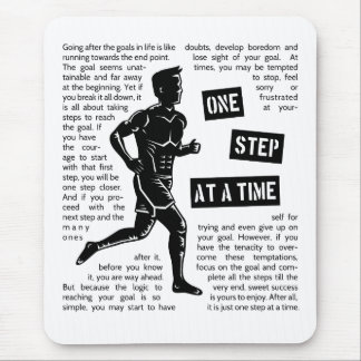 Running After Goals Motivational Inspirational Mouse Pad