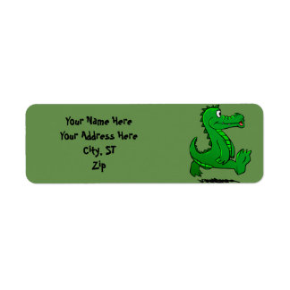 Running alligator return address label