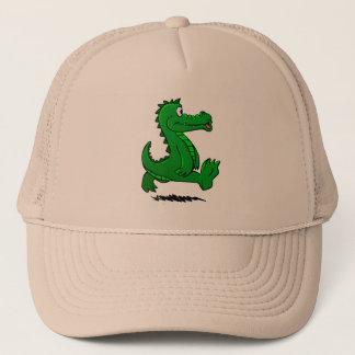 Running alligator trucker hat