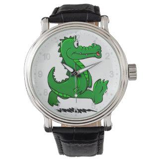 Running alligator watch