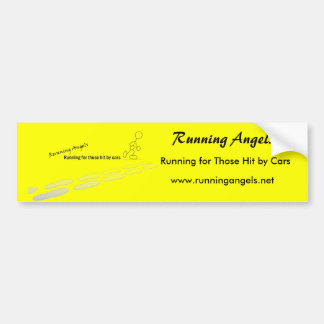Running Angels Bumper Sticker