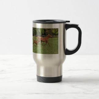 Running Arabian Horses - Mom and Foal Travel Mug