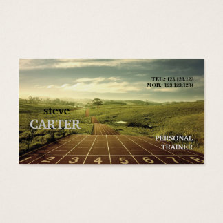 Running Athletics Fitness Marathon Trainer Card