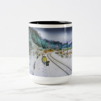 Running Away From Home Two-Tone Mug