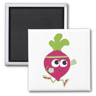 Running Beet Square Magnet