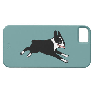 Running Boston Terrier - Customizable Color Case For The iPhone 5