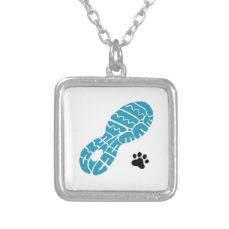 Running Buddy Square Pendant Necklace