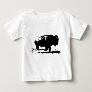 Running Buffalo Bison Pop Art Baby T-Shirt