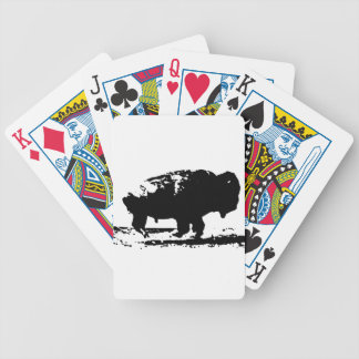 Running Buffalo Bison Pop Art Bicycle Playing Cards