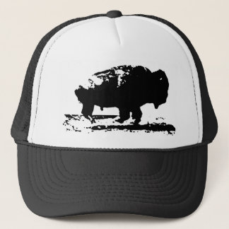 Running Buffalo Bison Pop Art Cap