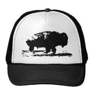 Running Buffalo Bison Pop Art Cap